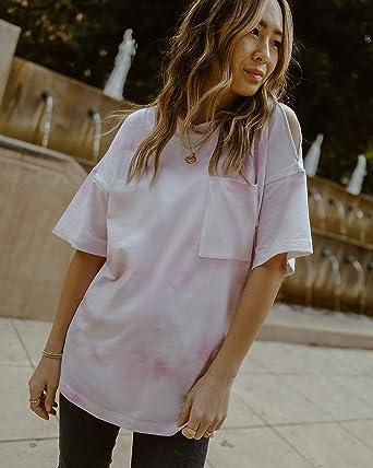 The Drop Camiseta Oversize de Efecto Lavado con Abertura en un Hombro @spreadfashion