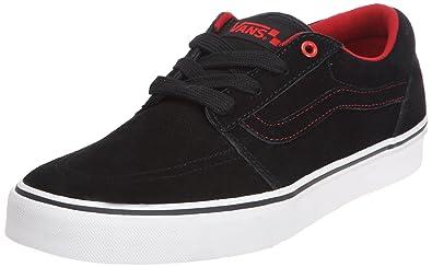 f5d08b436c5431 Vans Herren M COLLINS BLACK WHITE RED Sneaker