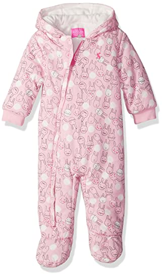 a58972939e9e5 Joules Baby Wadded Pramsuit - Rose Pink Bunny: Amazon.co.uk: Clothing