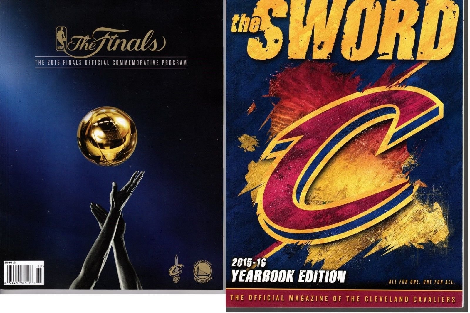 f105be0e8a4 2016 NBA FINALS CHAMPIONS CLEVELAND CAVALIERS CHAMPIONSHIP PROGRAM +  YEARBOOK SET Paperback – 2016