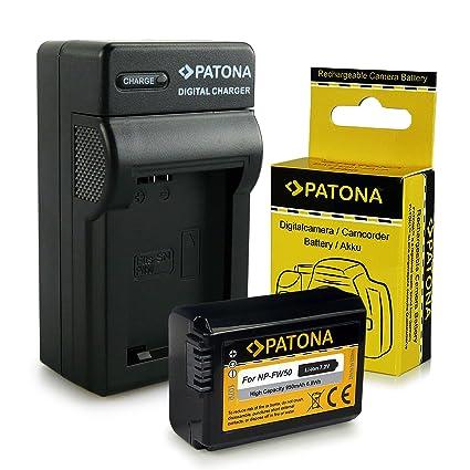 Cargador + Batería NP-FW50 para Sony NEX-3 | NEX-3A | NEX-3D | NEX-3K | NEX-5 | NEX-5A | NEX-5D | NEX-5H | NEX-5K | NEX-6 | NEX-7 | Sony Alpha: 33 ...