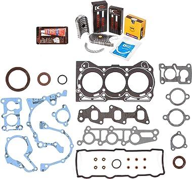 Standard Size Main Rod Bearings Standard Size Piston Rings Evergreen Engine Rering Kit FSBRR8006\0\0\0 Fits 89-00 Chevrolet GEO Metro 1.0 SOHC G10 Full Gasket Set