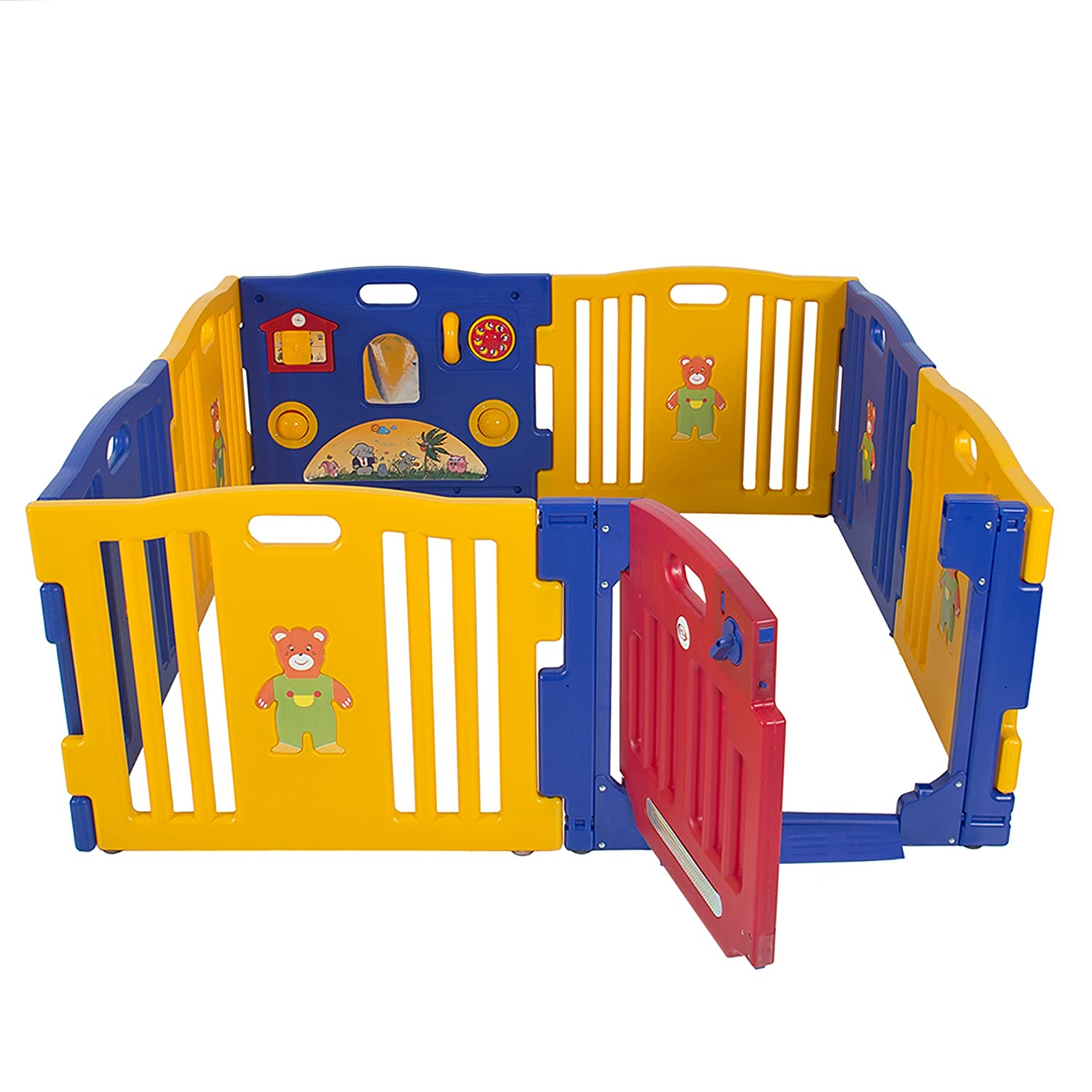 Amazon.com : Best Choice Products Baby Playpen Kids 8 Panel Safety ...