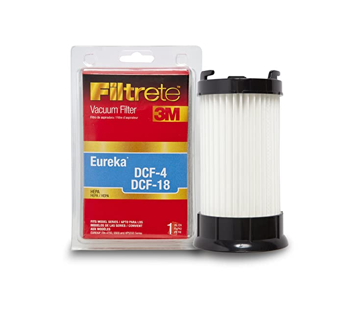 3M Filtrete Eureka DCF-4 & DCF-18 High Efficiency Allergen Vacuum Filter Red
