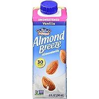Almond Breeze Dairy Free Almondmilk, Unsweetened Vanilla, 8 Ounce (Pack of 12)