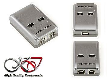 Kalea-Informatique - Distribuidor de periféricos de USB 2.0 automático/Switch 2 puertos - Compatible con impresoras: Amazon.es: Informática