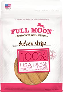 product image for Full Moon All Natural Human Grade Dog Treats, Chicken Strips