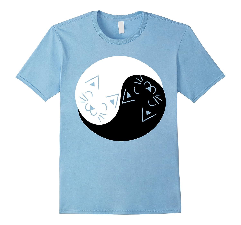 Yin and Yang Cats Shirt   Funny Cat Animal T-Shirts-Rose
