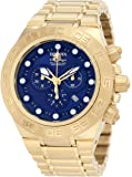 Invicta Men's 1941 Subaqua Sport Chronograph Blue Dial 18k Gold Ion-Plated Stainless Steel Watch