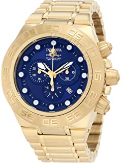 c42acf62e42 Invicta Men s 1941 Subaqua Sport Chronograph Blue Dial 18k Gold Ion-Plated  Stainless Steel Watch