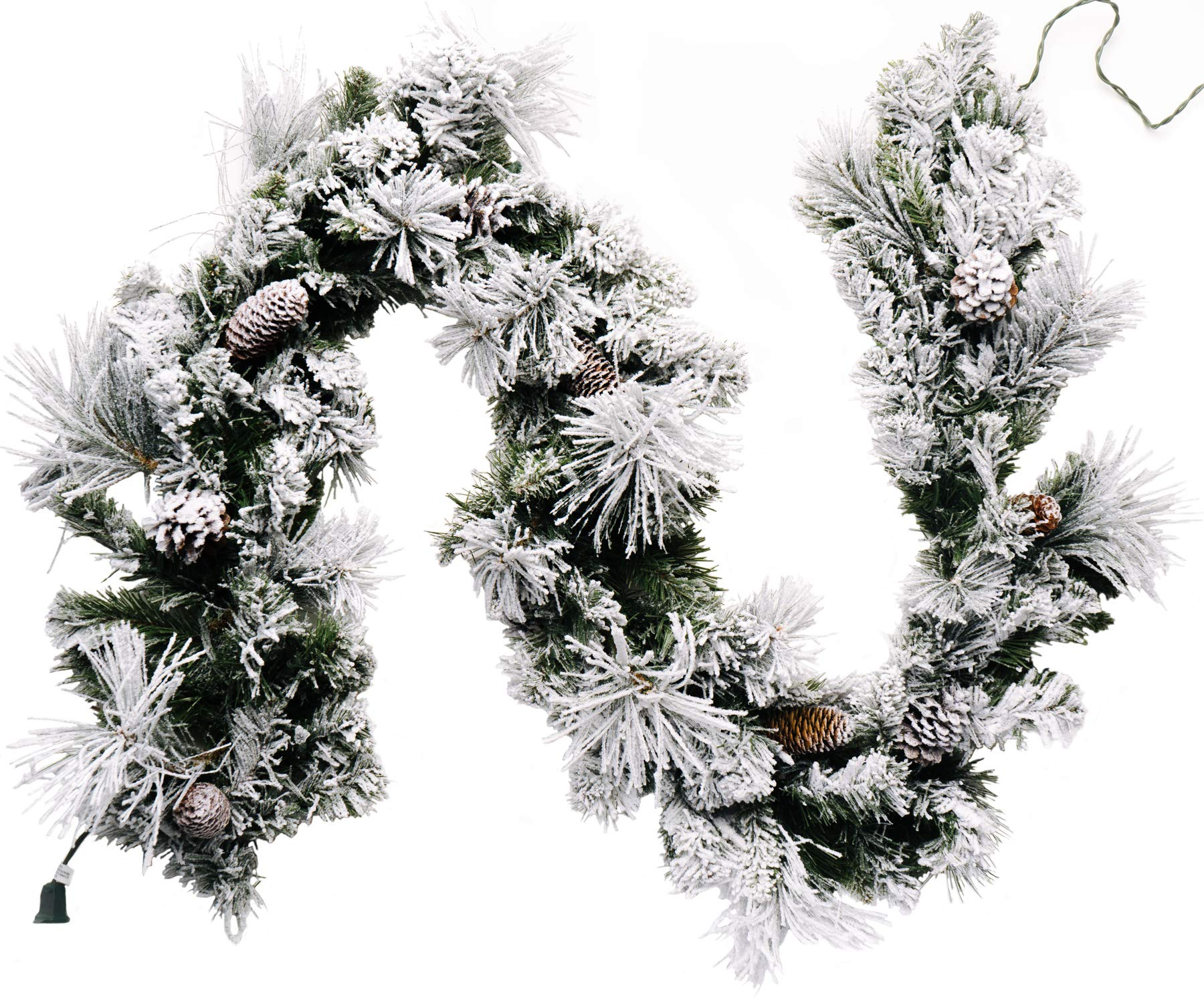 CraftMore Frosted Holiday Pine Garland