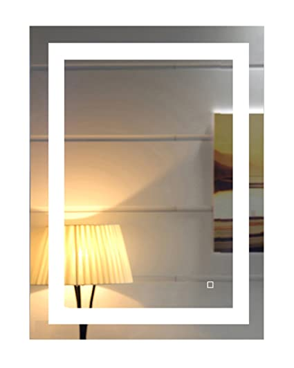 24x32 inch led lighted bathroom mirror with dimmable touch switch gs099d 2432 - Lighted Bathroom Mirror