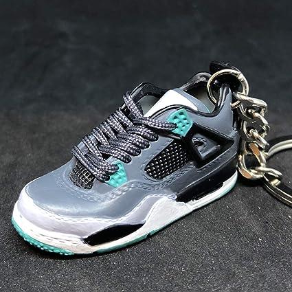 970679ed2ab90d Amazon.com   Air Jordan IV 4 Retro Green Glow OG Sneakers Shoes 3D Keychain  Figure 1 6   Everything Else