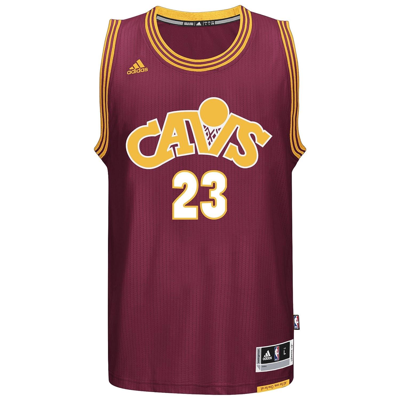 sale retailer a3fcf 704e0 Amazon.com : adidas Lebron James Men's Maroon Cleveland ...
