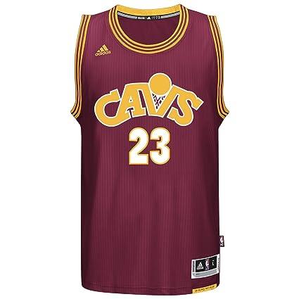 ede156a16 2015-16 Lebron James ADIDAS Cleveland Cavaliers Swingman Burgundy Alt Jersey  Men s (Small)