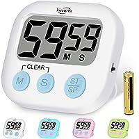 Kissarex Digital Kitchen Countdown Timer: Teachers Classroom Counter Large LCD Loud Magnetic Clip Simple Clock Mini…