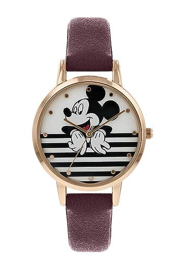 Disney Mickey Mouse MK5088 - Reloj de Pulsera para Mujer, Color Oro Rosa: Amazon.es: Relojes