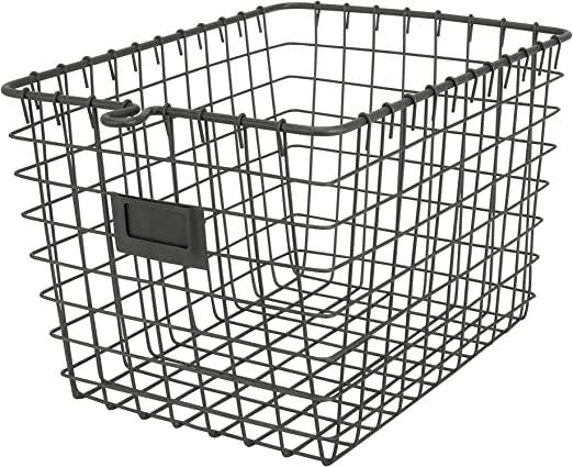 Amazon Com Spectrum Diversified 47876 Wire Storage Basket Small Industrial Gray Home Kitchen