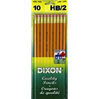 Dixon 12055 Number 2 HB Wood Pencils, Bagged, 10-Count