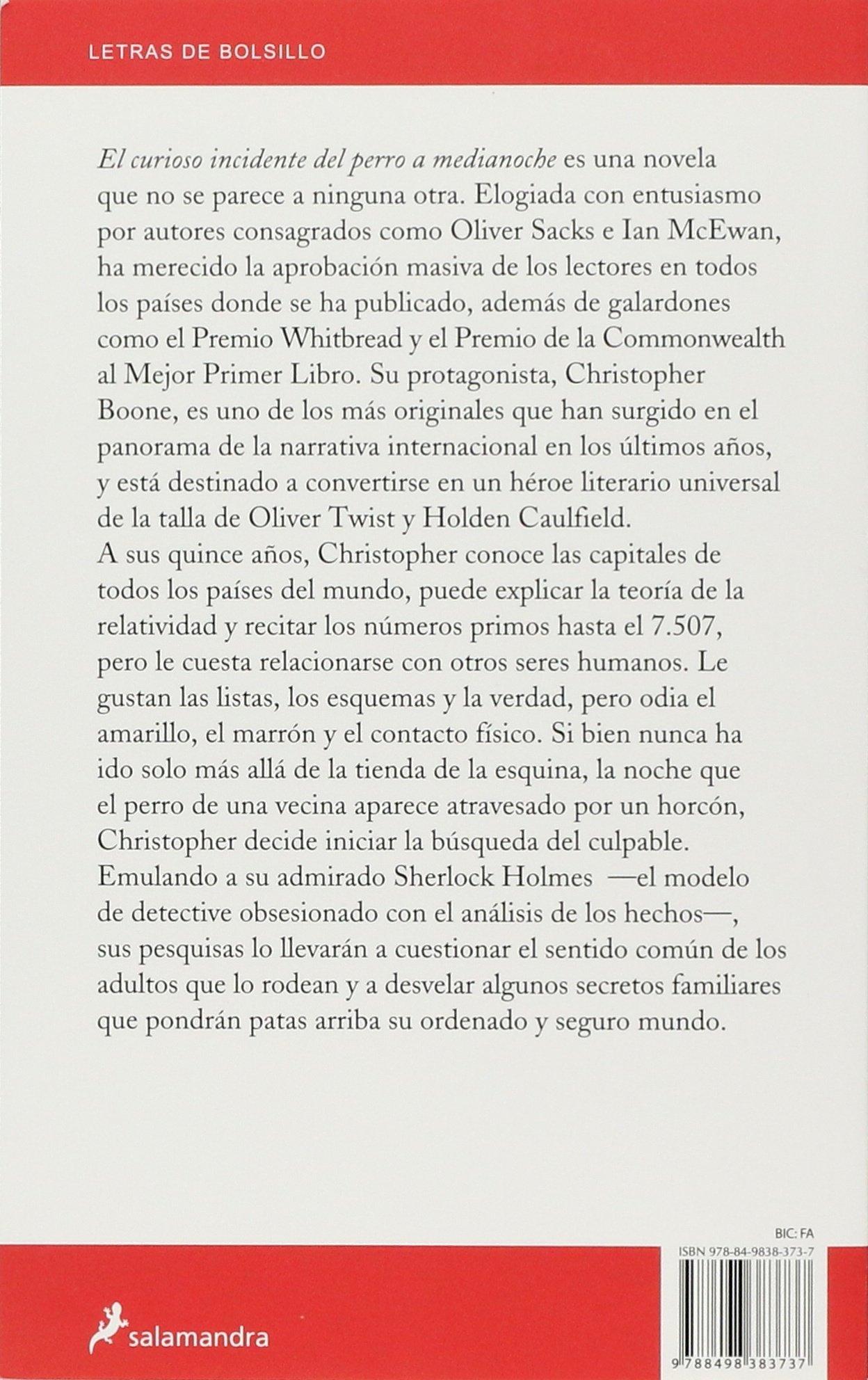 El curioso incidente del perro a medianoche Letras de Bolsillo: Amazon.es:  Mark Haddon: Libros