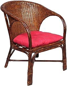 IRA Elegant Wicker Arm Chair with Cushion