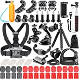 Neewer 83-In-1 Action Camera Accessory Kit for GoPro Hero 7 6 5 4 3+ 3 2 1 Hero Session 5 Black AKASO EK7000 Apeman SJ4000 5000 6000 DBPOWER AKASO VicTsing WiMiUS Rollei QUMOX Lightdow DJI OSMO Action Sony Sports Dv and More