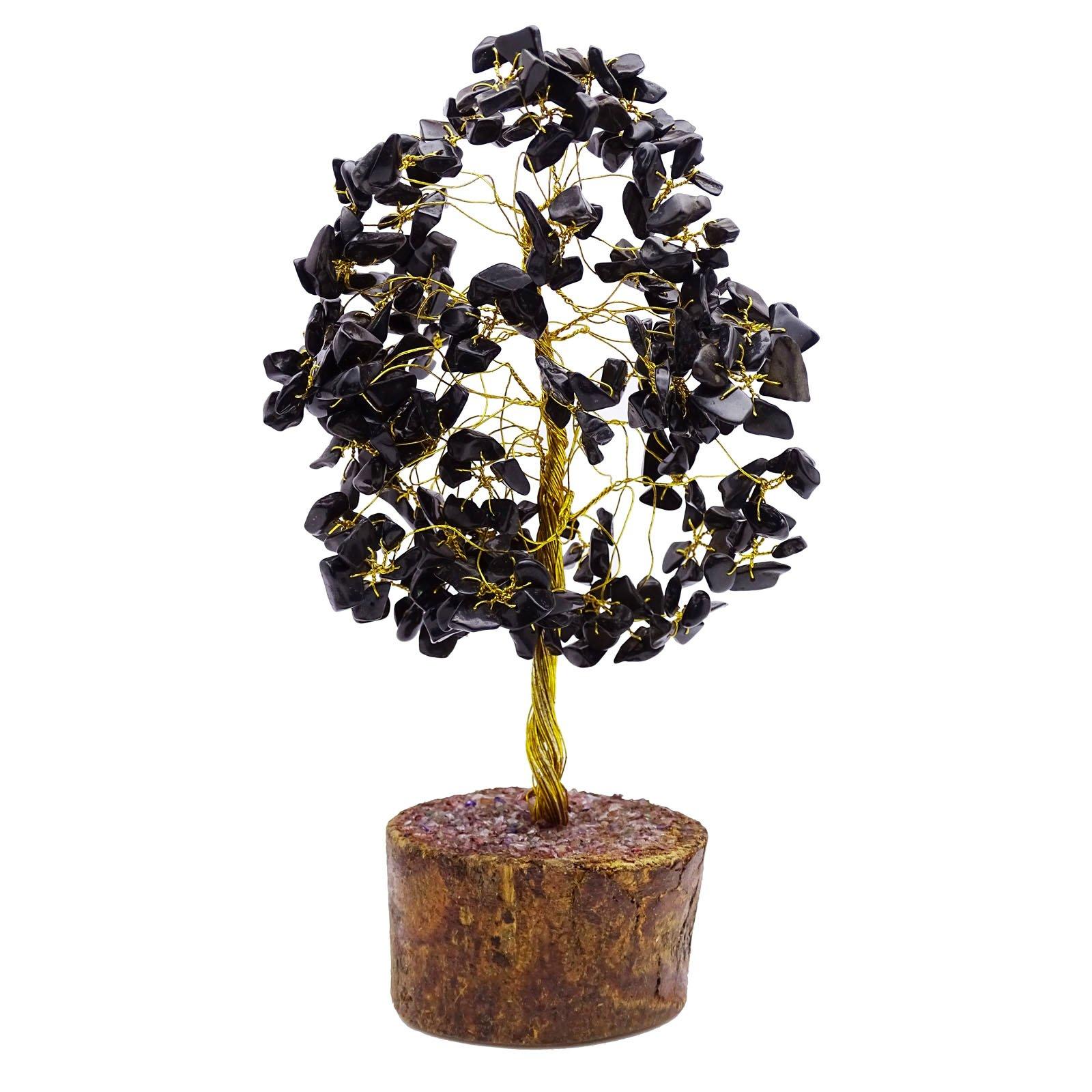 HARMONIZE Black Onyx Reiki Healing Stones Tree Feng Shui Spiritual Table Décor