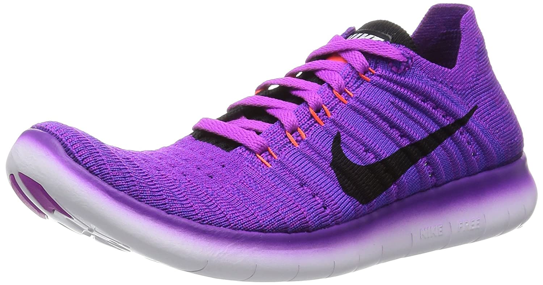 factory authentic e139f 5af8c Nike Women s Free Running Motion Flyknit Shoes, Hyper Violet Total Crimson Laser  Orange Black - 6. 5 B(M) US  Amazon.in  Shoes   Handbags