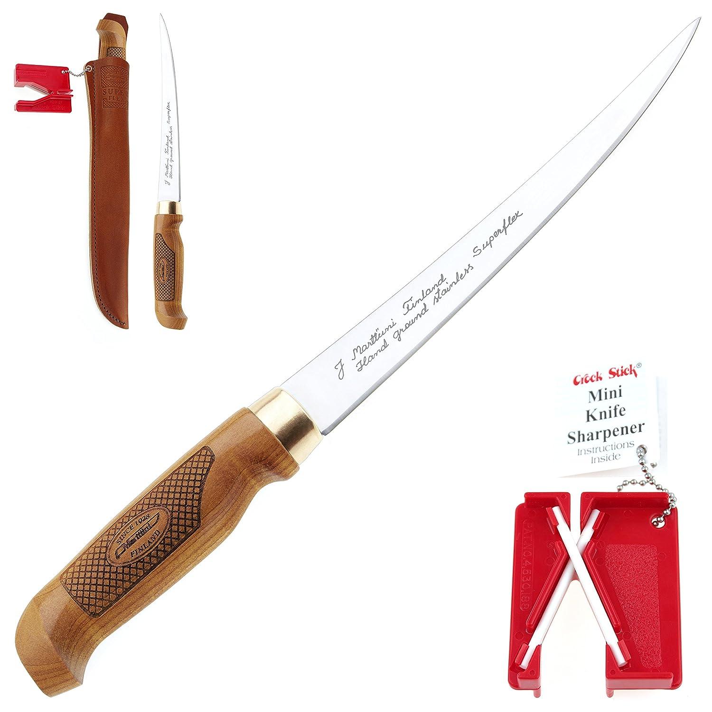 Martini & Lansky Marttiini 903410 Classic Superflex cuchillo para filetear - Cuchillo de 30,6 cm, combo de cuchillo y afilados, extremadamente ...
