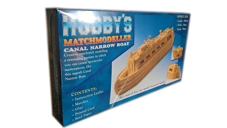 Canal Narrow Boat - Matchmodeller matchstick model construction craft kit - Hobby's MM26