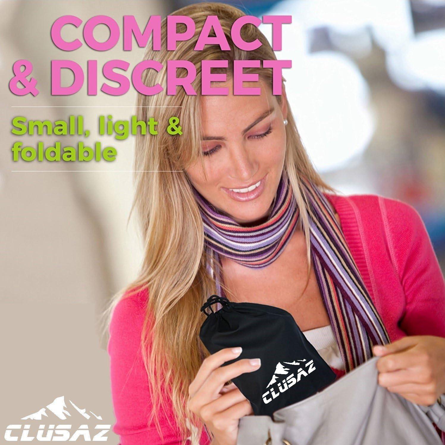 CLUSAZ Dispositivo Urinario Port/átil Feminino Rosa para Orinar de Pie