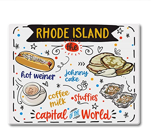 Counterart Rhode Island State Foods Tempered Glass Counter Saver Cutting Board Kitchen Dining Amazon Com