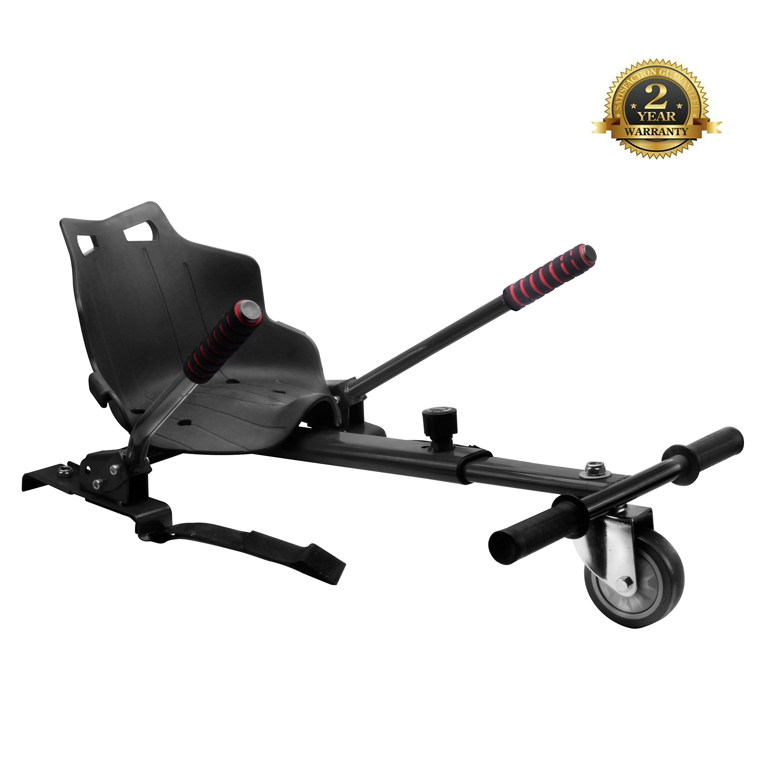 Go Kart for Hoverboards-Adjustable - All Heights - All Ages - Self Balancing Scooter - Compatible with All Hoverboards - HoverBoard not included (black)