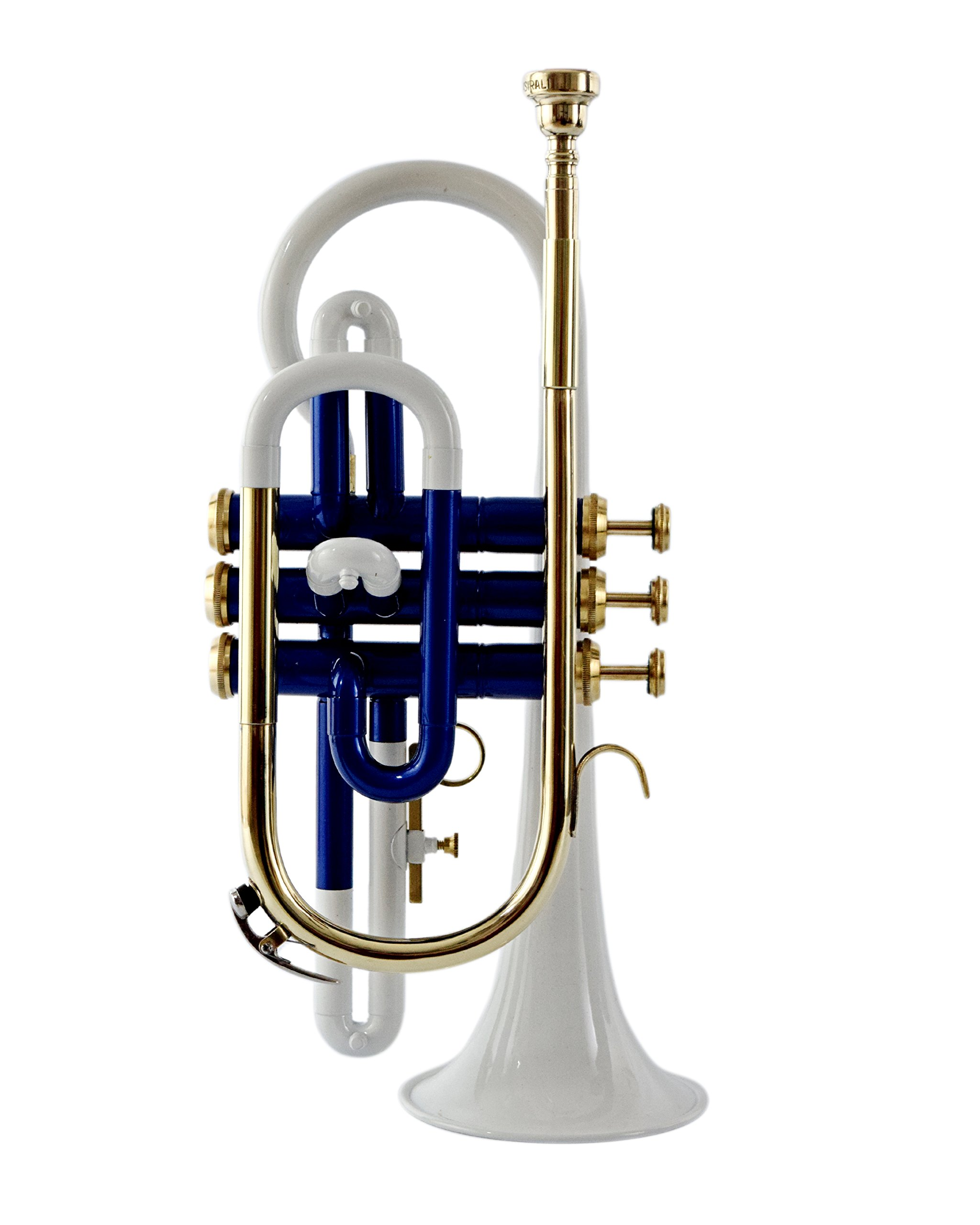 NASIR ALI BEAUTIFUL CORNET BP PITCH WHITE + BLUE COLORED WITH CASE AND MP by NASIR ALI (Image #4)