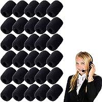YFT 30 Piezas Cubierta del micrófono,Cubiertas de Micrófono de Espuma, Pantallas Antiviento de Micrófono,para Aula,Sala…