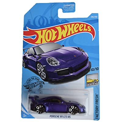 Hot Wheels 2020 Factory Fresh Porsche 911 GT3 246/250, Purple: Toys & Games