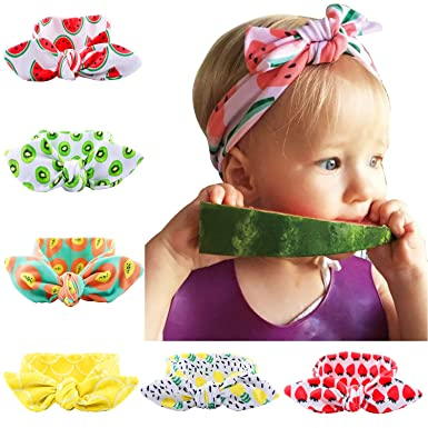 6pcs Baby Girl Turban Headband Kids Hair Bows Cross Knot Hairbands ... 0780ed23192