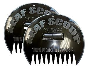 Bully Tools 1000 Poly Leaf Scoop, 2-Pack Black