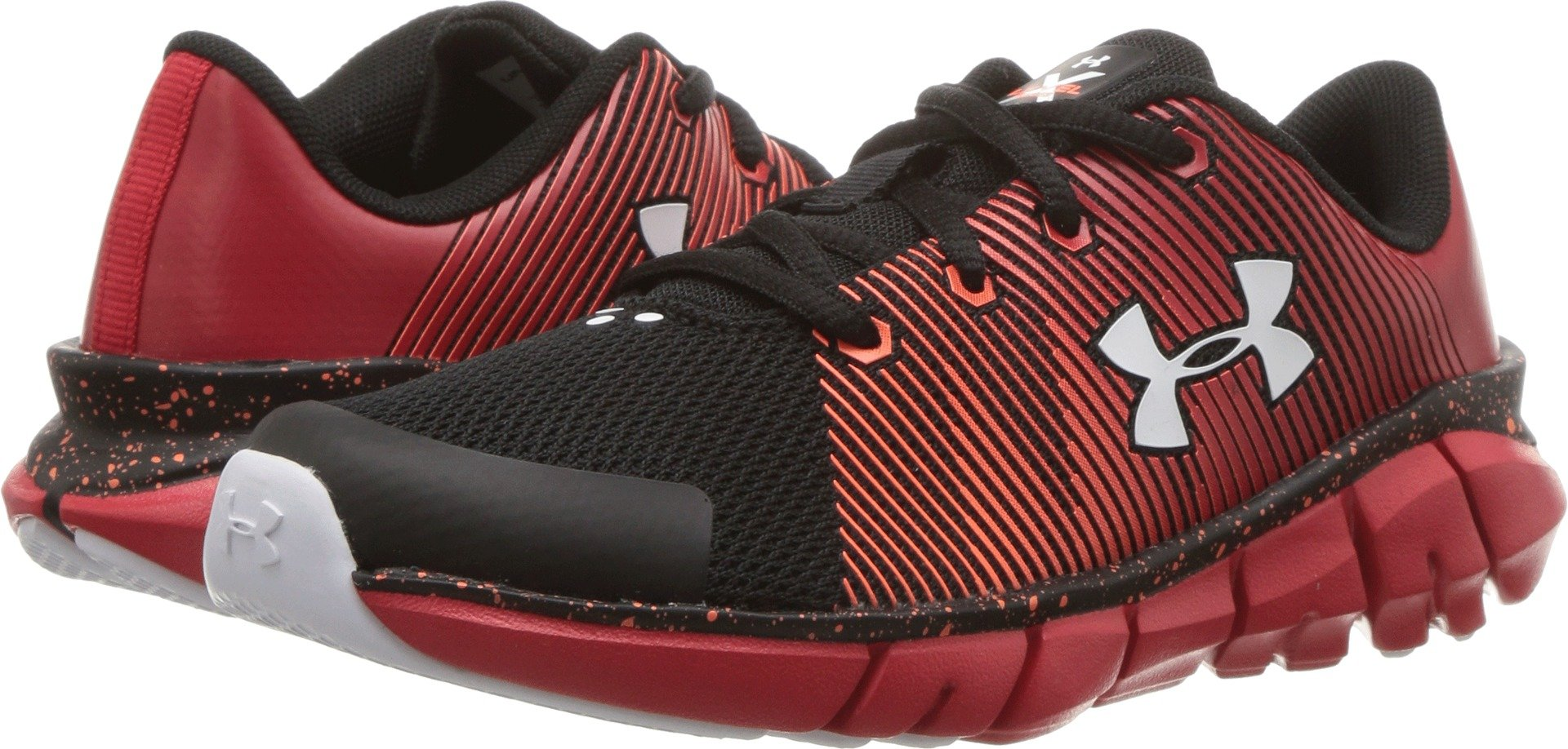 748a921ac3c3 Under Armour Kids Boy s UA X Level Scramjet (Little Kid) Black Red White  13.5 M US Little Kid