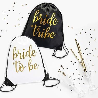 Bride & Bride Tribe Drawstring Bags (7)