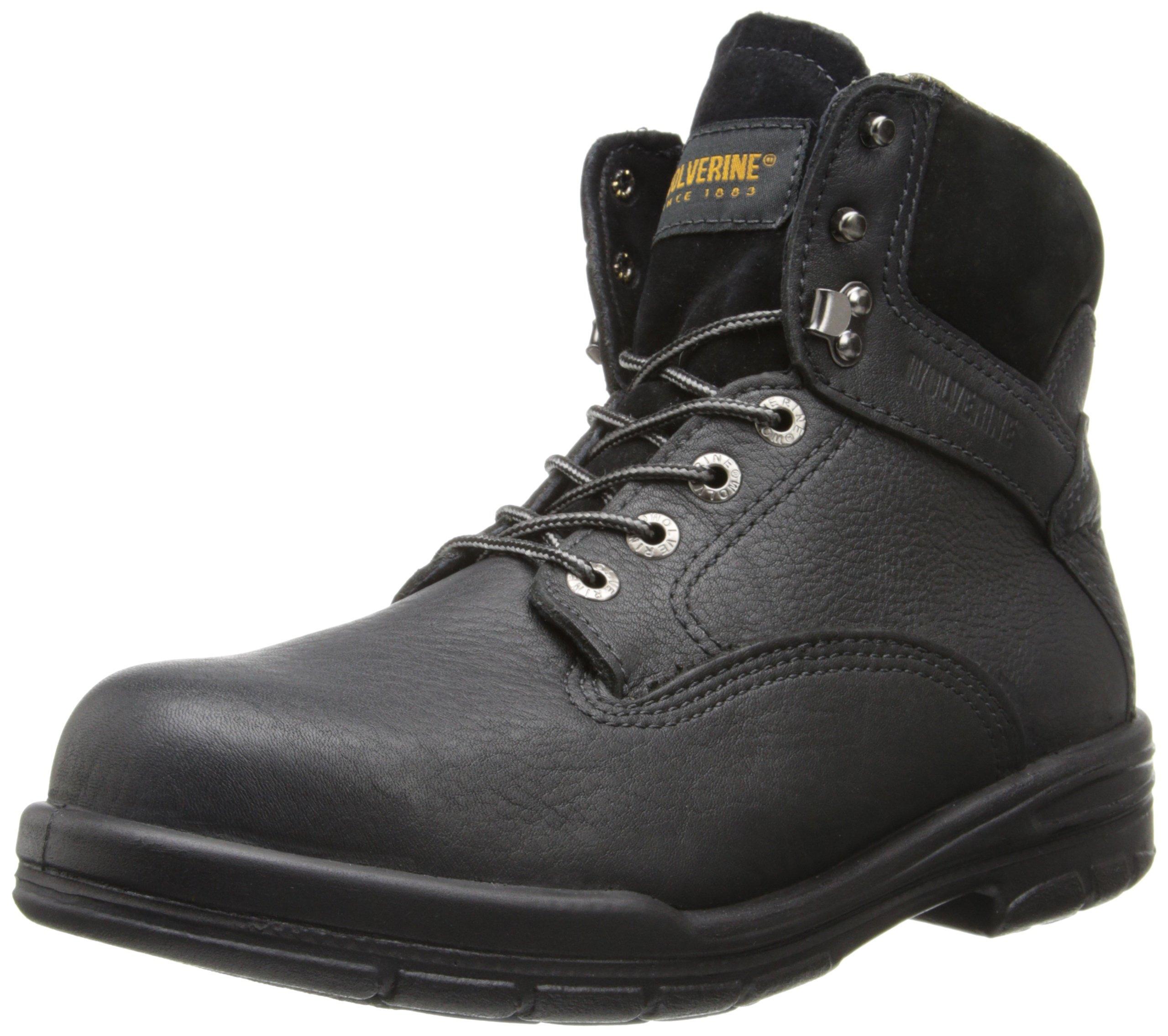 Wolverine Men's SR Durashock DS MNS 6 Inch Steel Toe EH Work Boot, Black, 12 M US
