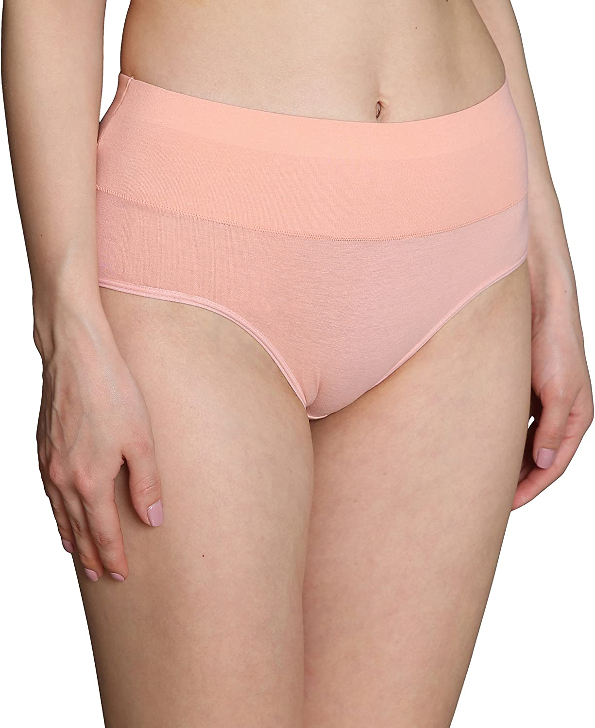 INNERSY Womens Multipack Cotton Soft Underwear Full Coverage Briefs Postpartum High Waisted Slimming Panties