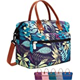 Leakproof Insulated Lunch Tote Bag with Adjustable & Removable Shoulder Strap, Durable Reusable lunch Box Container for Women