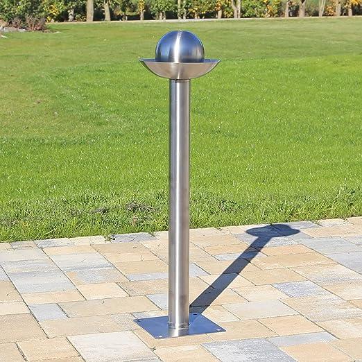 CLGarden Elemento de acero inoxidable con esfera Pilar de pozo con esfera, de decoración para el jardín o para la construcción de una fuente: Amazon.es: Jardín