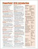 Microsoft PowerPoint 2016 Introduction Quick Reference Guide - Windows Version (Cheat Sheet of Instructions, Tips & Shortcuts - Laminated Card)