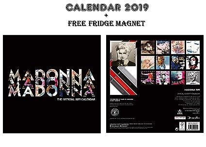 Calendario oficial de Madonna 2019 + imán para nevera de Madonna ...