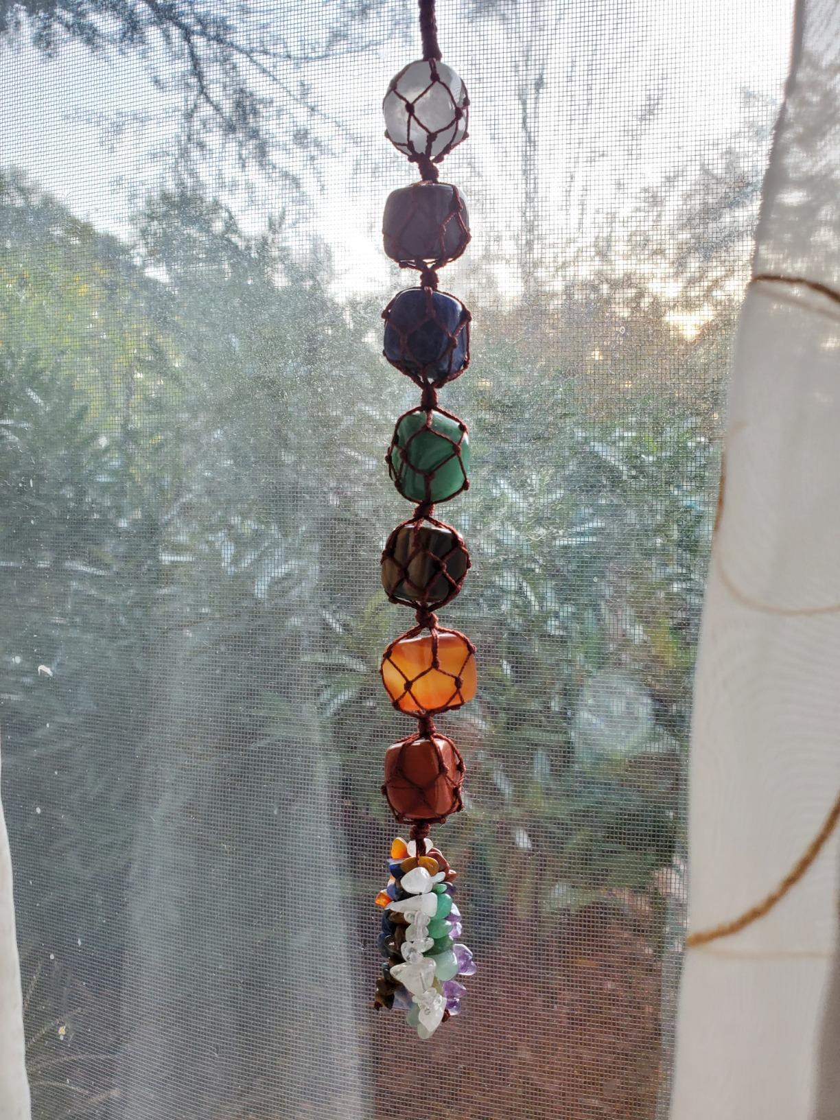 7 Chakra Gemstones Crystals Hanging Ornament photo review