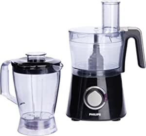 Philips Viva Collection Food Processor with 2.1L Bowl, Blender and Grinder Mill, 750W, Black, HR7762/90