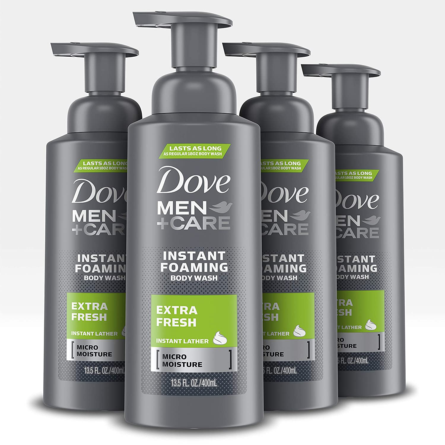 Amazon Com Dove Men Care Foaming Body Wash To Hydrate Skin Clean Comfort Effectively Washes Away Bacteria While Nourishing Your Skin 13 5 Oz 4 Count Beauty