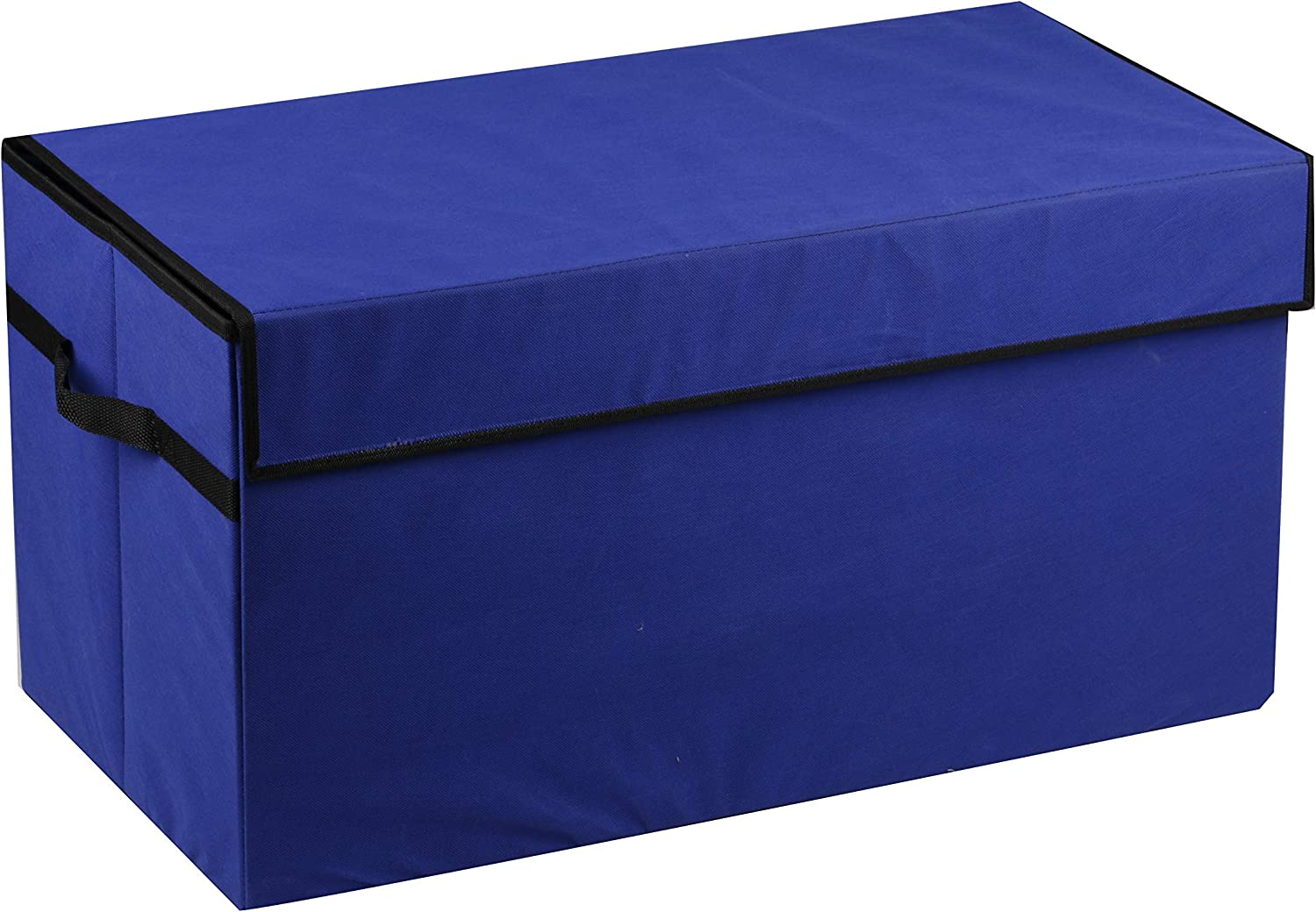 Prorighty Navy Blue Toy Organizer Flip-Top LID 30inch Large Organizer for Girl or Boy Gifts Container Multi-use Nursery Laundry